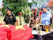 Provincia vietnamita impulsa labores de búsqueda de restos de combatientes caídos en Laos