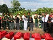 Repatrían restos de soldados voluntarios vietnamitas caídos en Camboya