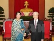 Máximo dirigente partidista vietnamita respalda nexos económicos con Bangladesh