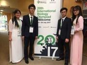 Alumnos vietnamitas brillan en Olimpiada Internacional de Biología