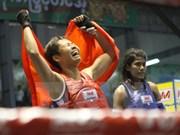 Luchadora vietnamita de Muay Thai gana medalla de oro en Juegos Mundiales