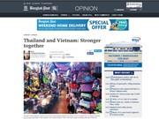 Medios de prensa tailandeses destacan perspectivas en relaciones con Vietnam