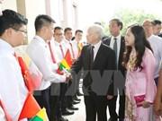 Máximo dirigente partidista de Vietnam inicia visita de Estado a Myanmar