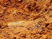 Hallan una bomba de más de un metro en provincia vietnamita de Thanh Hoa