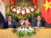 Presidente de Vietnam recibe a su homólogo de Egipto
