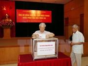 Dirigentes del Partido Comunista y Parlamento de Vietnam apoyan a víctimas de Doksuri