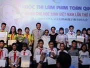 Concurso nacional de cine de estudiantes presenta premios