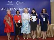 Empresarias vietnamitas reciben premios del APEC