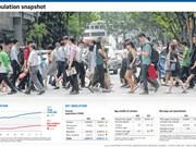 Crecimiento de población de Singapur alcanzó tasa más baja en 10 años