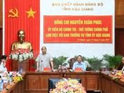 Premier vietnamita exhorta a desarrollar agricultura inteligente en provincia de Hau Giang