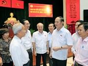 Presidente de Vietnam dialoga con votantes en Ciudad Ho Chi Minh