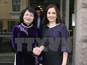 Vicepresidenta de Vietnam continúa actividades en Finlandia
