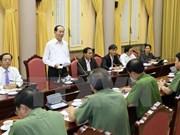 Presidente de Vietnam exige máximas condiciones para la Cumbre del APEC