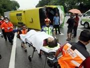 Malasia: Ocho muertos en accidente de tránsito múltiple