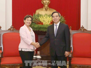 Dirigente vietnamita recibe a delegación de la ONU sobre cambio climático