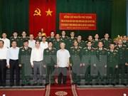 Máximo dirigente partidista de Vietnam destaca esfuerzos de Zona Militar 4