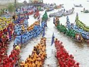 Camboya celebra festival tradicional de agua con regata