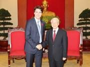 Dirigente paridista vietnamita recibe a primer ministro de Canadá