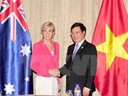 Vietnam juega importante rol en política exterior de Australia, afirma canciller Bishop