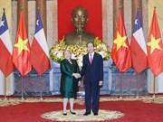 Presidente vietnamita recibe a Michelle Bachelet