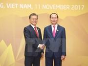 Presidente de Vietnam se reúne con mandatarios de Sudcorea y Laos