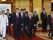Secretario general del Partido Comunista de Vietnam se reúne con Xi Jinping
