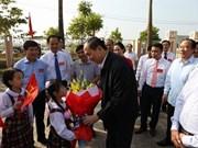 Presidente de Vietnam participa en la Fiesta de Unidad Nacional en Bac Giang