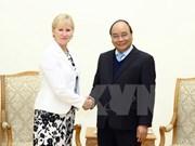 Premier Xuan Phuc aboga por expandir cooperación Vietnam- Suecia