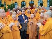 Presidente de Vietnam felicita el éxito del VIII Congreso del Budismo Nacional
