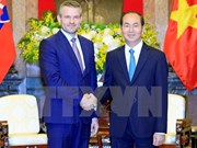 Presidente de Vietnam aboga por aumentar nexos comerciales con Eslovaquia