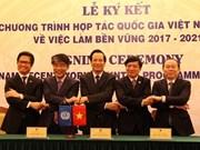 Vietnam y la OIT firman acuerdo de cooperación sobre empleo sostenible