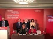 Ontario rubrica seis acuerdos económicos con Vietnam