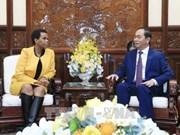 Presidente vietnamita recibe a saliente embajadora sudafricana
