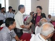 Presidenta del Parlamento vietnamita sostiene contactos con electores en Can Tho