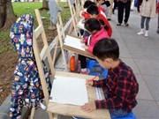 Entregan en Hanoi premios del concurso de dibujo infantil sobre la paz