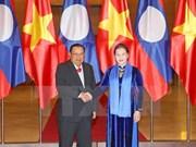 Presidenta del Parlamento vietnamita se entrevista con máximo dirigente de Laos