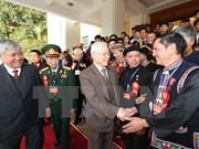 Máximo dirigente partidista de Vietnam destaca aportes de los étnicos