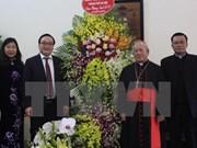Líderes de Hanoi saludan a comunidad católica por Navidad