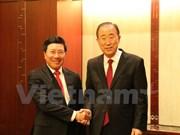 Vicepremier y canciller de Vietnam efectúa visita oficial a Sudcorea