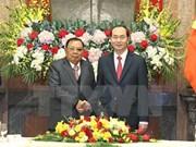 Bounnhang Vorachith envía mensaje de agradecimiento tras visita a Vietnam