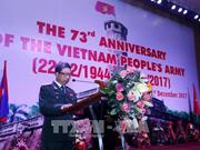 Conmemoran en Laos aniversario de Fundación del Ejército Popular de Vietnam
