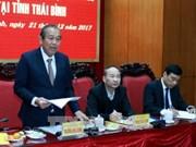 Vicepremier de Vietnam revisa desarrollo socioeconómico de provincia norteña