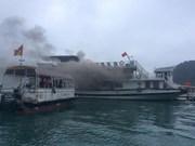 Turistas chinos traslados a sitio seguro tras una colisión de barcos en provincia vietnamita