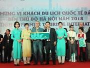 Hanoi da bienvenida a primer turista extranjero en 2018
