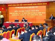 Premier vietnamita: Agricultura debe crecer un tres por ciento en 2018