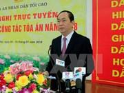 Presidente de Vietnam insta a sancionar estrictamente delincuentes de corrupción