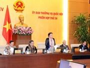 Emprenden reunión 20 del Comité Permanente del Parlamento vietnamita