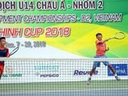 Dúo vietnamita alcanza doble título en evento de tenis Asia U14