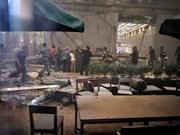 Al menos 20 heridos en derrumbe de estructura en Bolsa de Yakarta
