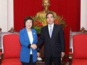 Jefe de Comisión Económica del Partido Comunista de Vietnam recibe a presidenta de KOICA
